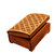 Wooden historical jewelry box with Gothic pattern