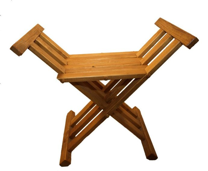 Wooden medieval viking folding chair