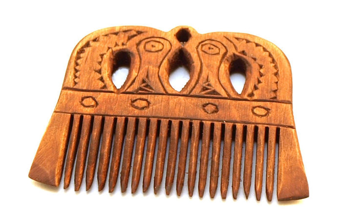 Viking Wooden Comb with a pattern from Northen Norway