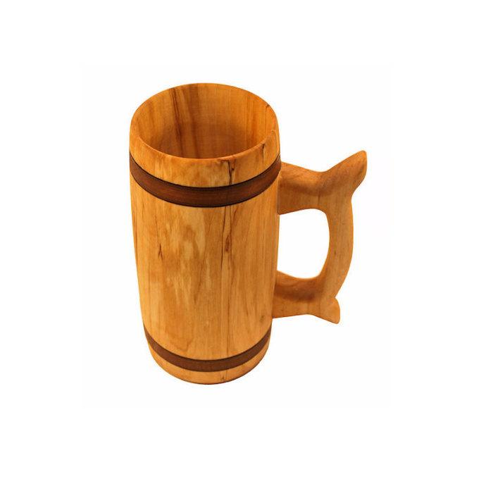 Wooden Beer Mug 0.7 litre ( 23 oz )|beer mug|wooden cup|wooden drinking