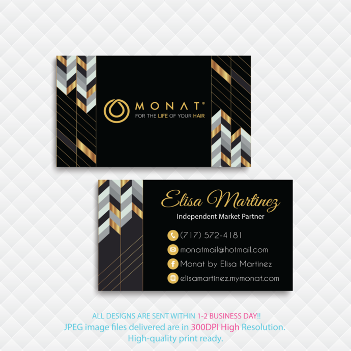 Monat Business Cards, Personalized Monat Business Cards, Custom Business Cards,