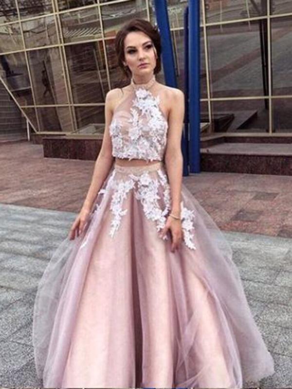 Two Piece Lace Prom Dress Plus Size Beautiful by PrettyLady on Zibbet