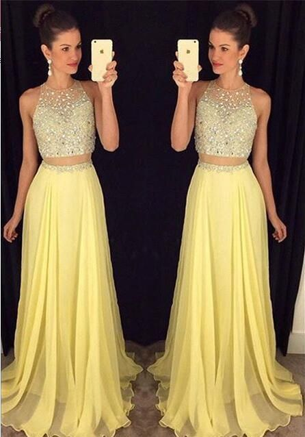 86a05ba2a685 2 pieces Prom Dresses,2 piece Evening Gowns,Simple by Hiprom on Zibbet