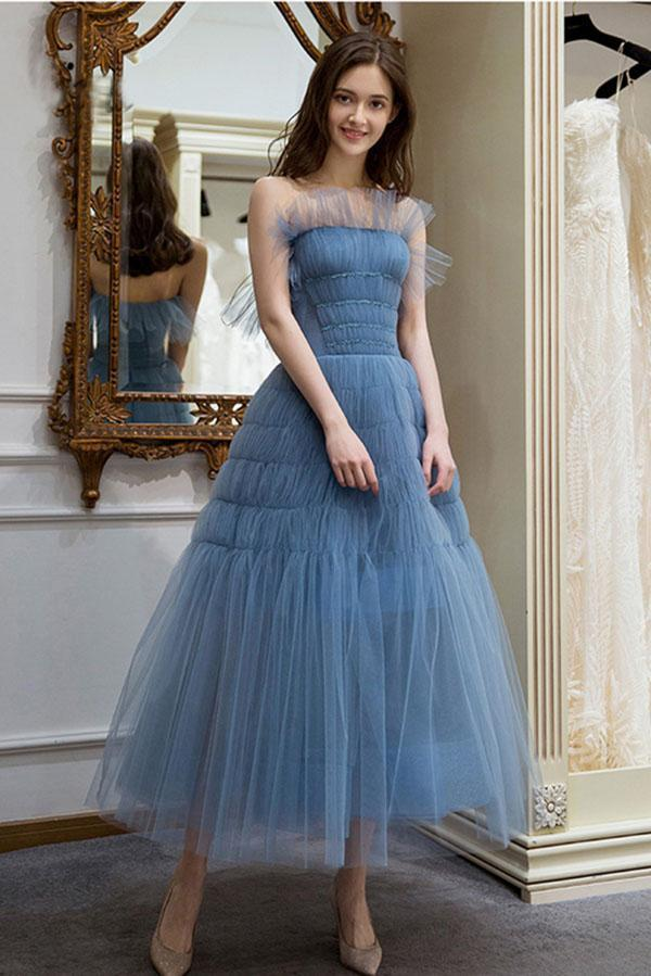 tea length tulle dress