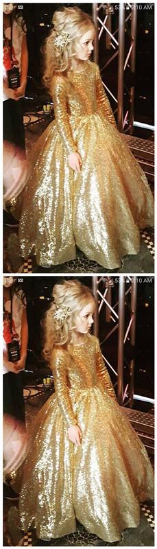 Gold flower girl dress great dress gold pageant dress