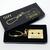 80s SONY Walkman Cassette Tape 3D Gold Metal Keychain / Keyring - New In Box -