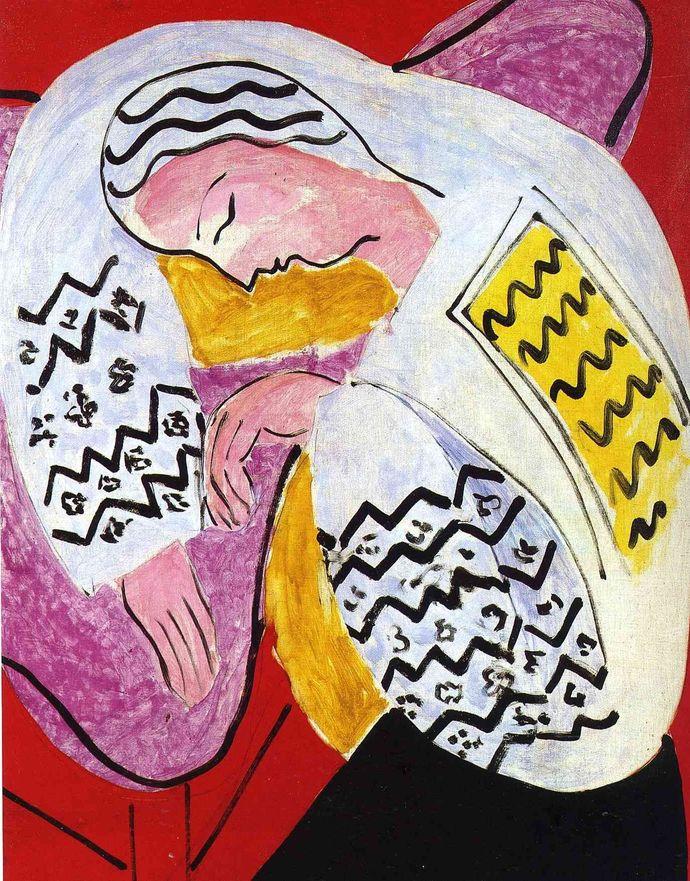 """Henri Matisse The Dream Canvas Print (13""""x19"""" or 18""""x28"""")"""