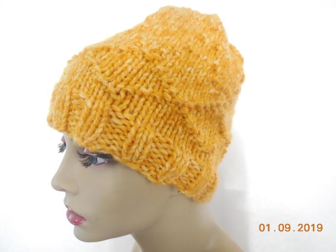 Wool Blend Beanie Hat