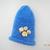 Rolled Brim Button Beanie Hat