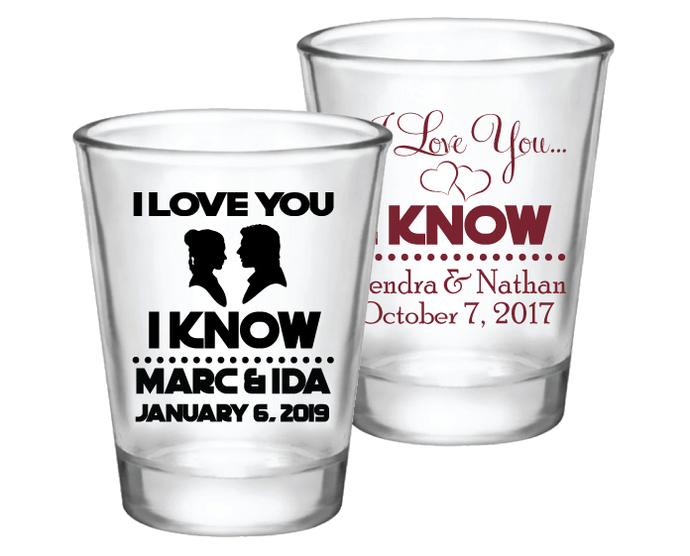 Wedding Shot Glasses.Star Wars Wedding Favors Personalized Wedding Shot Glasses For Guests
