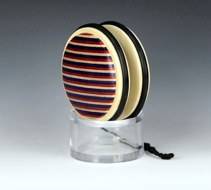 Handmade Toy YoYo, Fixed Axle Imperial...Holly & Laminated Hardwood with a USA
