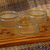 Solid upcycled serving platter for snacks with decorative wood burned design