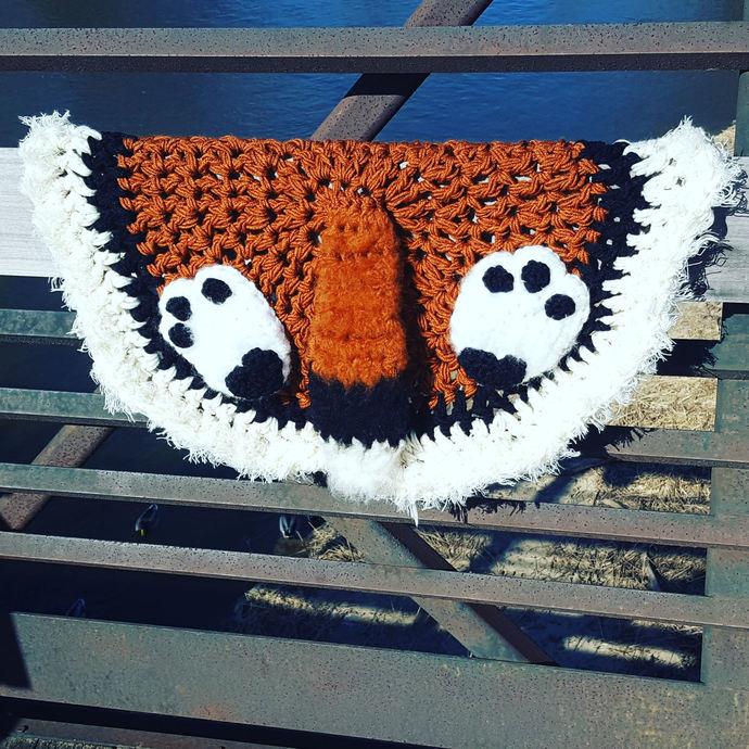 Cabin Decor, Fox Tail Crochet Blanket, Fox Tail Throw, Fox Tail Rug, newborn
