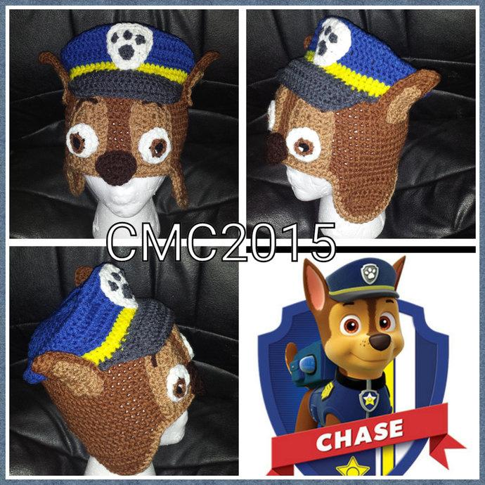 f9047ce47f0 Crochet Pattern Puppy Cop Earflap Hat by CraftyMomAndDad on Zibbet