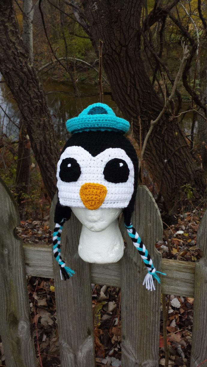 Sailor Penguin Hat, Halloween Costume, Penguin Costume, Nautical Hat, Winter