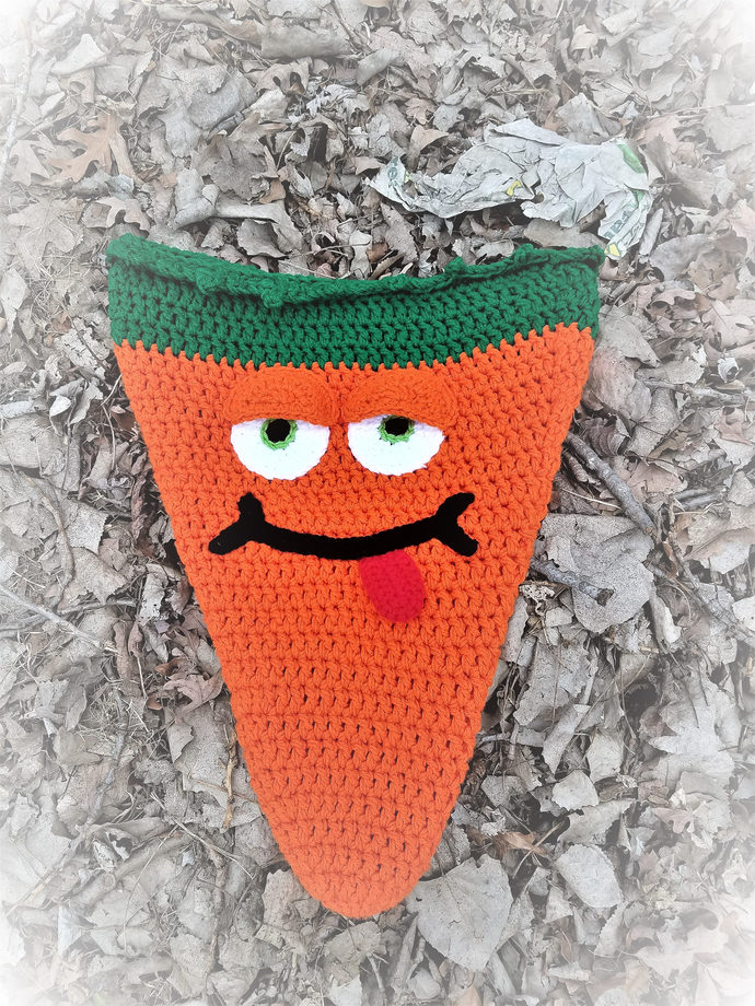 Carrot Cocoon, Carrot Sleep Sack, Carrot Photo Prop, Sugar Free Easter, Crochet