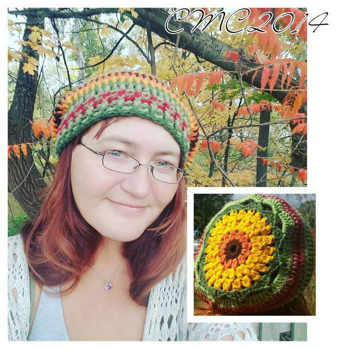 Sunburst Slouch, Hippie hat, Boho Style, Gifts For Her, Christmas Gift, Holiday