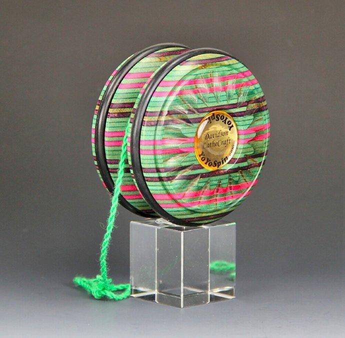 Handmade Toy YoYo, Fixed Axle Imperial...Laminated and Dyed Hardwood