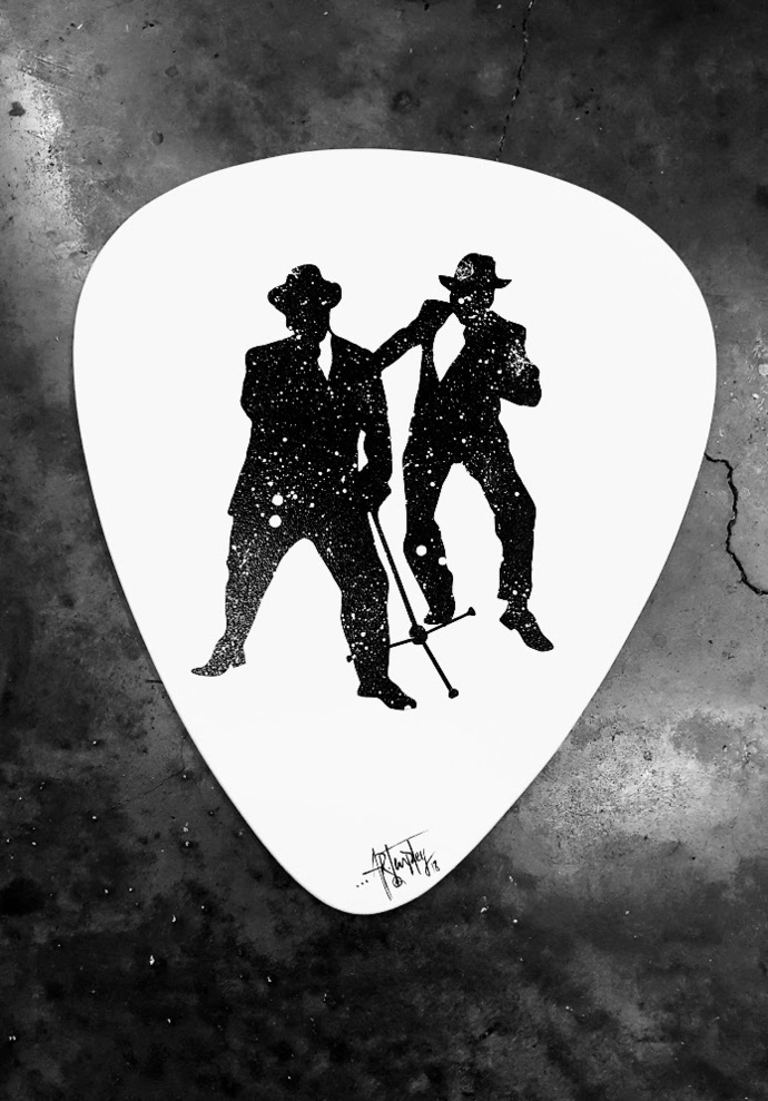 Blues Brothers inspired Guitar pick wall art, guitar pick wall hanging, blues