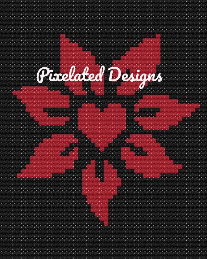 Heart Flower Pattern - C2C - 48x60 - Throw - Graph w/Written - Full Version