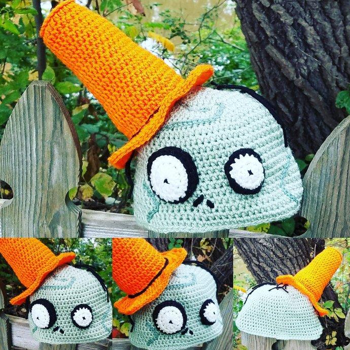Conehead Zombie, Crochet Pattern, PDF File Only, Zombie Hat, Crochet Hat, Kids
