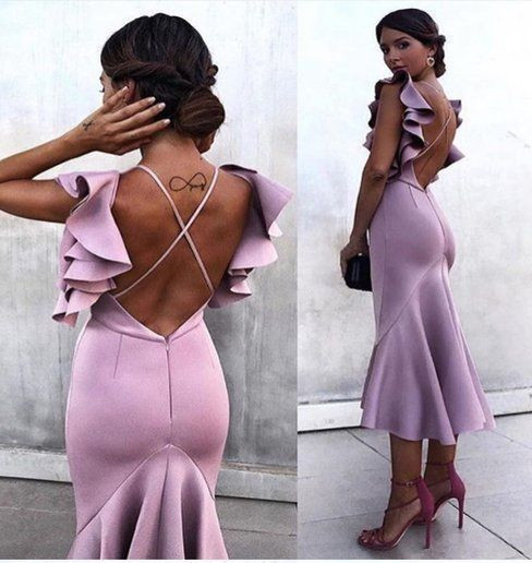 Sheath Ankle Length Pageant Dress with Criss-cross Back Semi Formal Dress