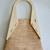Medium wood and cork zippered Tote Bag, Lightweight vegan Handbag