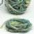 Boho Gypsy HandSpun Recycled Silk Sari Yarn GREEN MIX 2 or 3 Yard lengths
