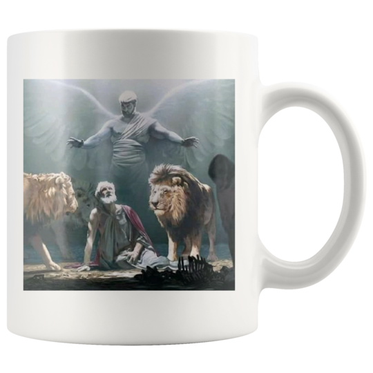 Mug Daniel in the lions den,Show his faith in God ,religious gift,inspirational