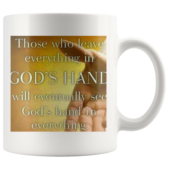Mug,God hands are in everything,Christian Inspirational Gift