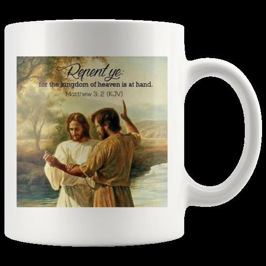Mug Repent and be saved,christian gift,inspirational gift