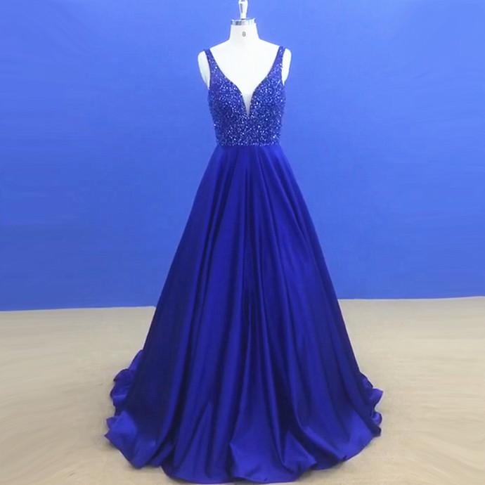 New Arrival Beaded Prom Dress,Elegant Homecoming Dress, Sleeveless Long Party
