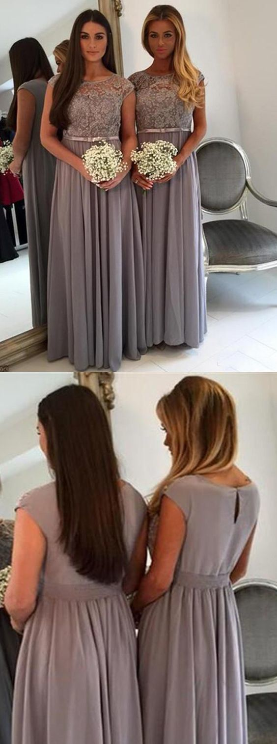 Modest Floor Length Bridesmaid Dress,Beaded Bridesmaid Dresses,Formal Party