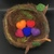 Customizable Needle Felted Birds Nest with Hearts to represent your family