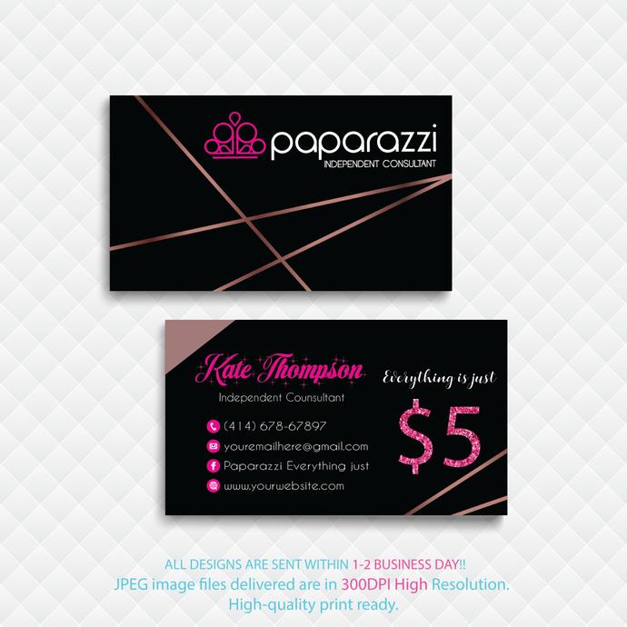 Paparazzi Business Cards, Paparazzi card, Personalized Paparazzi Business Cards,