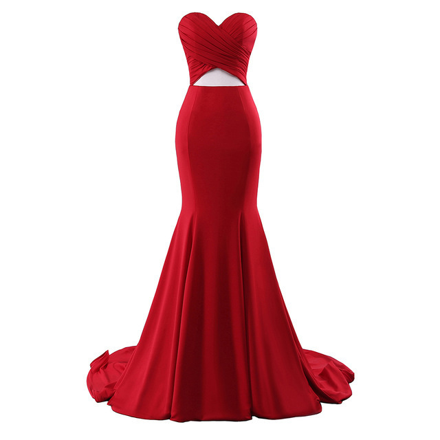Charming Prom Dress,Sexy Sleeveless Red Prom Dresses,Long Evening Dress