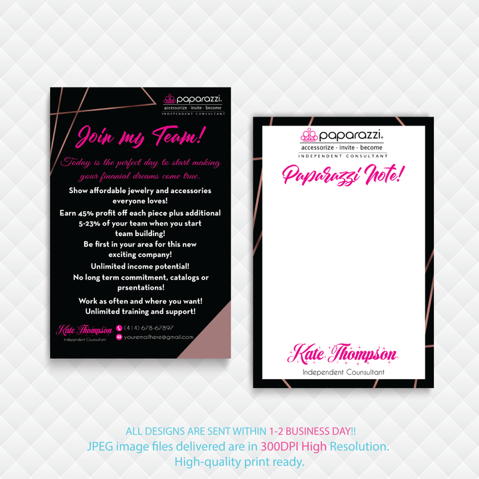 Paparazzi Join My Team cards, Paparazzi Consultant Cards, Paparazi Cards,