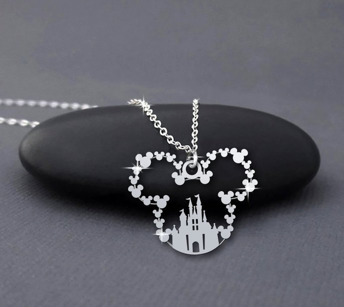 Disney Castle Handmade Sterling Silver Necklace