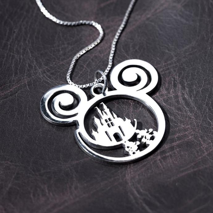 Disney Is Calling Handmade Sterling Silver Necklace