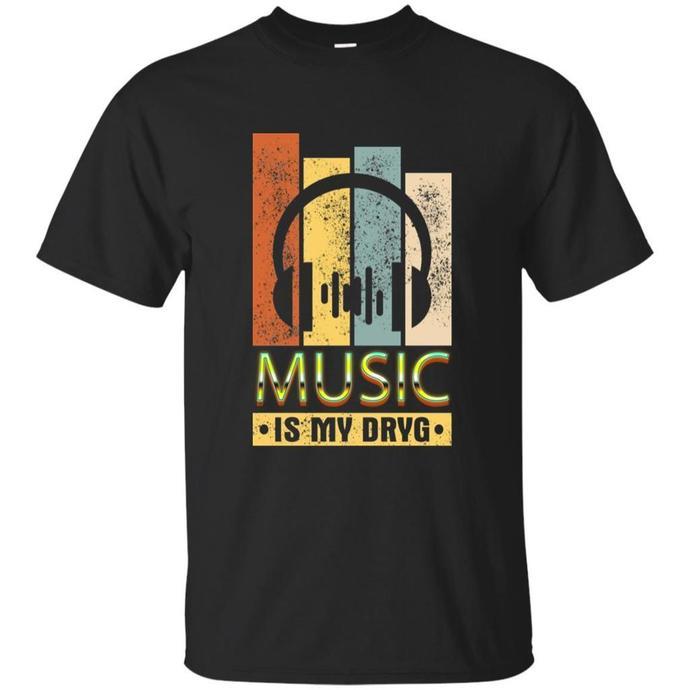Music Is My Drug, DJ Headphone Men T-shirt, DJ Headphone T-shirt, Music Is My
