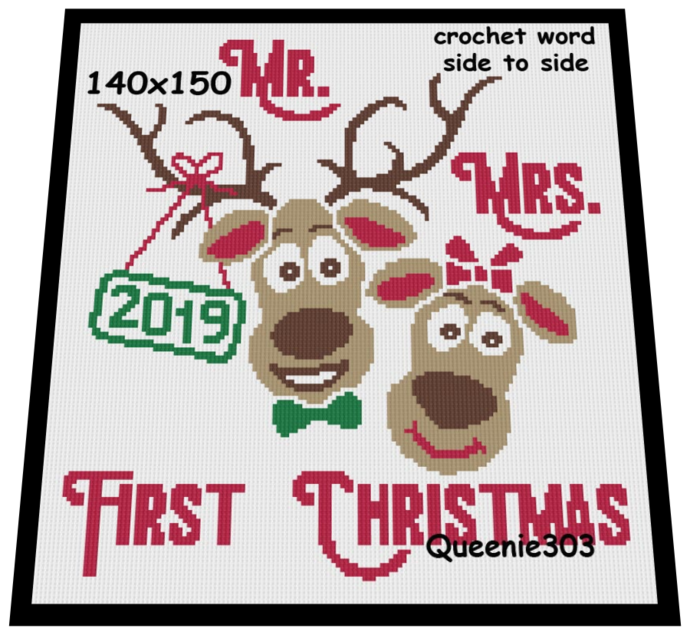 First Christmas Mr and Mrs 140x150
