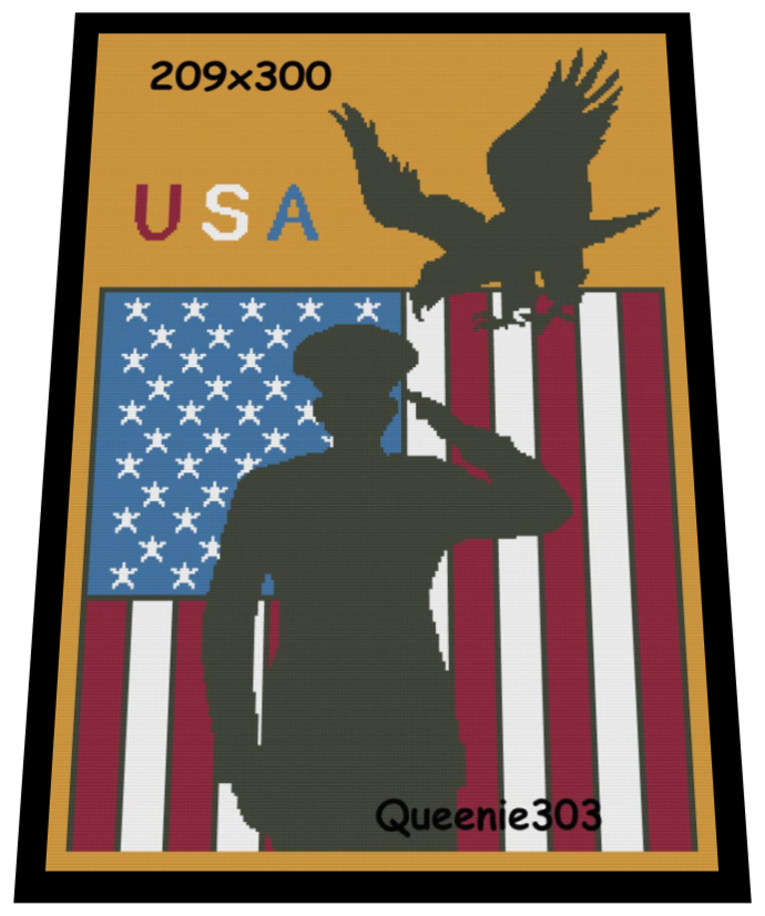 Flag Soldier Eagle 209x300