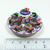 Hand painted Ceramic Miniature Dollhouse Tea Set with cute Flowers - 7 Pieces