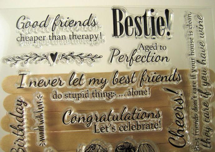Bestie Girlfriends Stamps, Best Friends