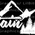 Mountain Life Vinyl Decal with Pine Trees in the Center Sticker Mountains