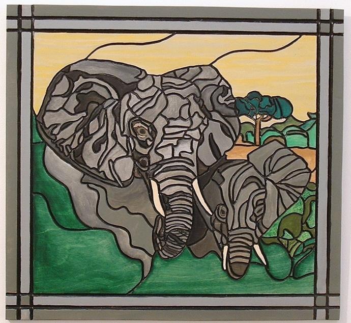 Elephants, Wood Wall Art, African Home Decor, Decorative Art