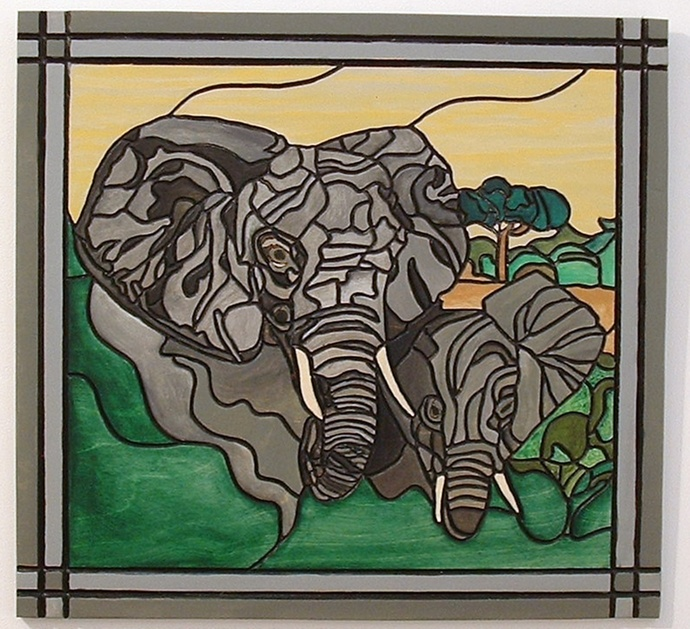Elephants, Wood Wall Art, African Home Decor, Decorative Art
