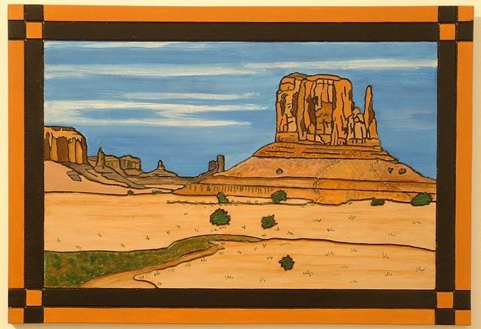 Landscape, Southwest, Monument Valley, Wood Wall Art