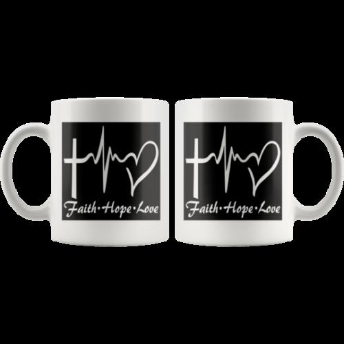 Faith,Hope,Love Coffee Mug,Coffee Cup,Gift for Christian