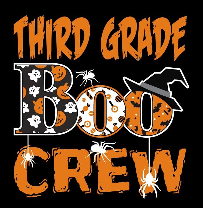 Third grade boo crew, Halloween, Teacher scary crew, can't scare me i'm a